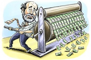 Bernanke printing money to infinity
